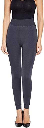 FITG18® Gym wear Leggings Ankle Length Free Size Workout Trousers | Striped Stretchable Jeggings | High Waist Sports Fitness Yoga Track Pants for Girls & Women (Grey Woolen, Free Size)