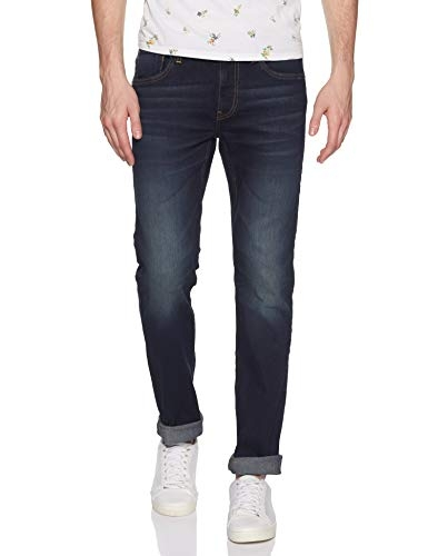 Flying Machine Men's Skinny Fit Jeans (FMJNO0375_Blue_34W x 33L)