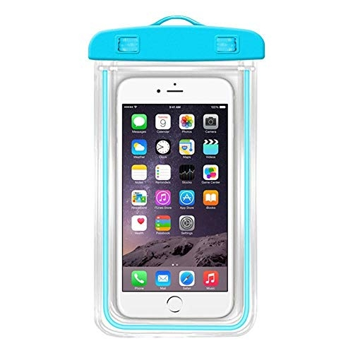 Geeky Waterproof Sealed Transparent Bag with Underwater Pouch Phone Case (Color May Vary)