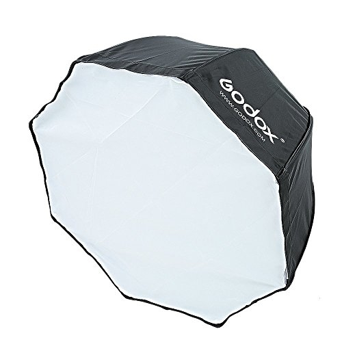 Godox SFUV4040 Portable Assembly Collapsible Diffuser Soft Box Kit with S-Type Bowens Flash Bracket for Godox Canon Nikon Sony Speedlite (Black)