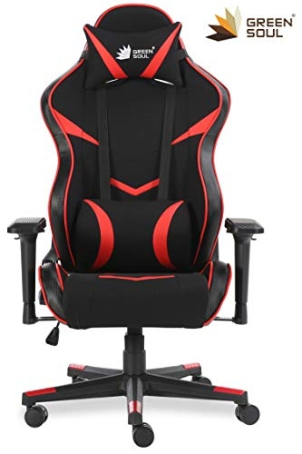 Green Soul Knight Pro Series Gaming/Ergonomic Chair PU Leather (GS-2.1) (Black) (Size – Large)