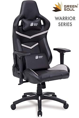 Green Soul Warrior Series Gaming/Ergonomic Chair PU Leather (GS-1) (Black & White) (Size – Large)