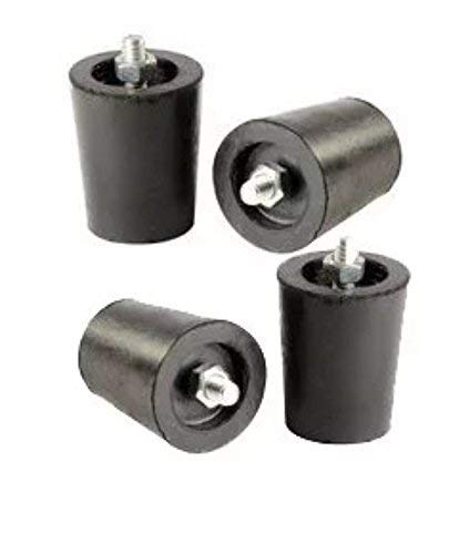 Rubber Legs L.P.gas Stove, Black -Pack of 4 Piece