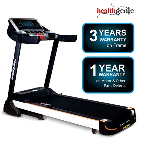 Healthgenie 4612C Commercial Motorized Treadmill for Home, 2.0 HP AC Motor with Auto Lubrication, Auto Inclination (Free Installation Assistance)