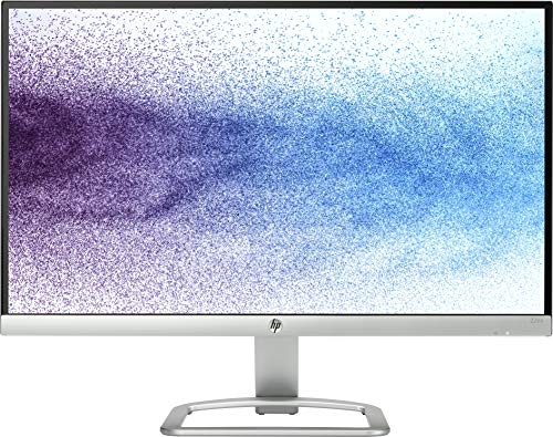 HP 21.5-inch (54.6 cm) Edge to Edge LED Backlit Computer Monitor – Full HD, IPS Panel with VGA, HDMI Ports – T3M71AA (Silver/Black)