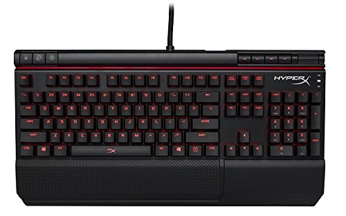 HyperX HX-KB2RD2-US/R1 Alloy Elite RGB LED Cherry MX Red Mechanical Gaming Keyboard (Black)