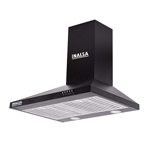 Elica 60 cm 1200 m3/hr Auto Clean Chimney with Free Installation Kit (WD HAC TOUCH BF 60, 2 Baffle Filters, Touch Control, Black)