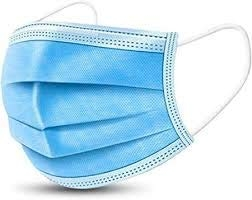 Ionix Pack of 10 Disposable Earloop Medical Face Masks Three Layer, 3 Ply Non-Woven Face Mask, Dust Mask Pollution Mask Surgical Face Mask for Air Pollution Virus Protection (Pack of 10)