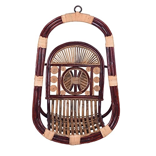 Shilpi Wooden Hanging Swings/Jhoola /Jhula/Zula with Melamine Coating for Home and Garden, Floor-Standing in Teak Wood