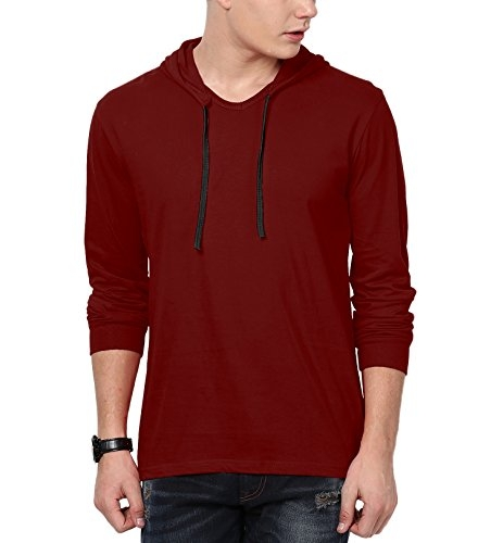 Katso Men's Cotton T-Shirt (KATSO-HOOD-FULL-MAROON-L__Maroon_Large)