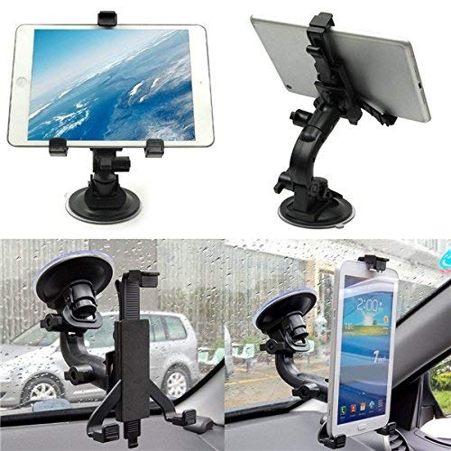 8 inch mobile holder for car – King Shine Car Seat Tablet Holder/Car Windshield Tablet Holder for 7-10 Inches Kindle/iPad (Black) (Tablet Holder with suction cup (3Lock Arms))
