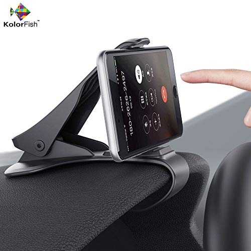 7 inch mobile holder for car – KolorFish Anti Skid Dashboard Car Mobile Holder Cradle Stand for Cell Phones up to 6.5 inches (Black)