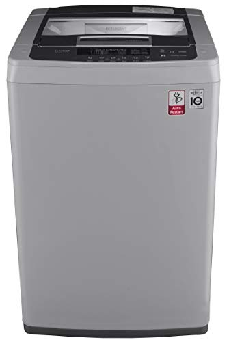 LG 6.5 kg Inverter Fully-Automatic Top Loading Washing Machine (T7569NDDLH, Middle Free Silver)