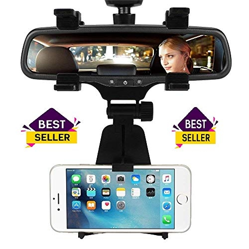 artis jhd-97 universal mobile car rear view mirror mount holder – LovelyNetworks Car Phone Holder Car Rearview Mirror Mount Phone Holder 360 Degrees for iPhone Samsung GPS Smartphone Stand Universal