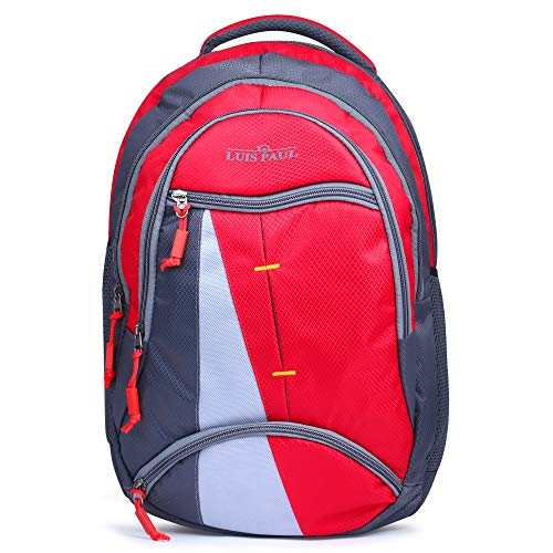 Aashiya Trades Canvas 3D 18 Inches Red School Wheels Rolling Trolley Backpack for Boys and Girls (Age Group 4-8 Years)