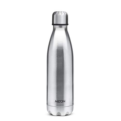 Milton Shine 1100 Stainless Steel Water Bottle, 1.12 Litre (Silver)
