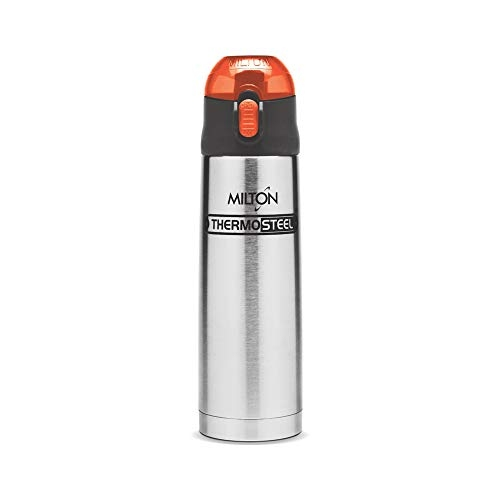 Milton Thermosteel Crown 900 Flask, 750ml, Orange