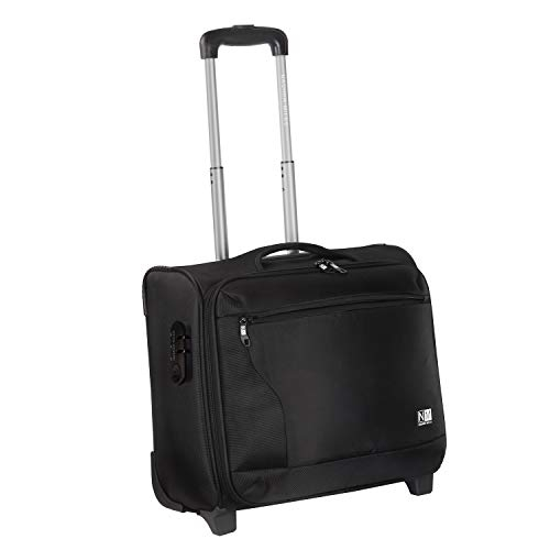 Nasher Miles Wall Street 2 Wheel Polyester 39 Liters Black Soft-Sided Laptop Roller Case