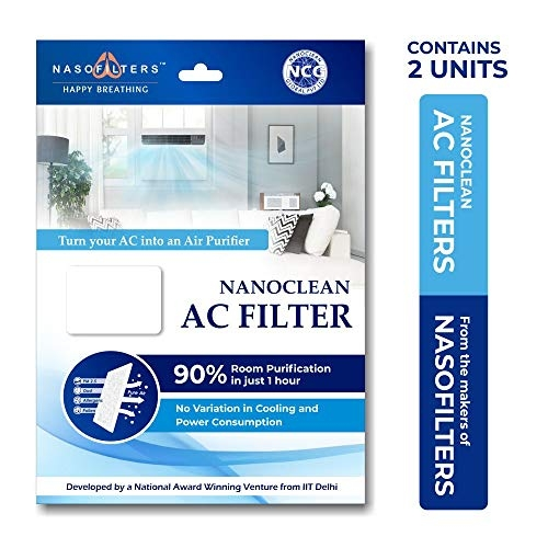 3M AC Filter – Dust & Pollen Air Cleaning Filter for Split-AC (4N Sheets, 2N Change Indicators)
