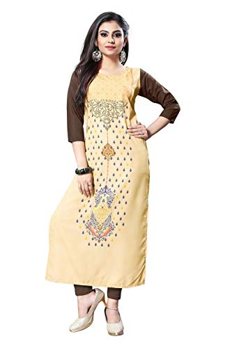 New Ethnic 4 You Woman's Crepe A-Line Kurti_130-s