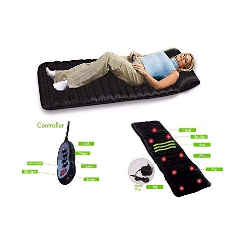 NT Full Body Massage Cushion with 9 Vibrating Motors and 4 Therapy Heating Pad for Relieving Back Lumbar & Leg Pain