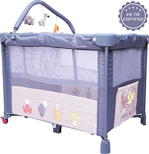 Luvlap C-80 Baby Wooden Cot with Detachable Newborn Cradle (Red)