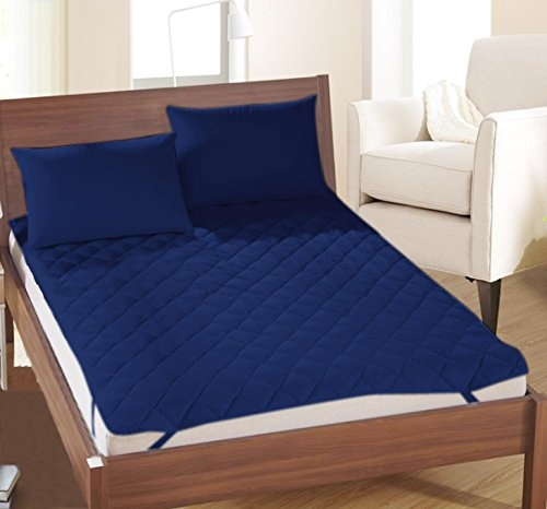 Rajasthan Crafts Microfiber Double Bed Water Resistant and Dust Proof Mattress(Blue, 72x78cm)