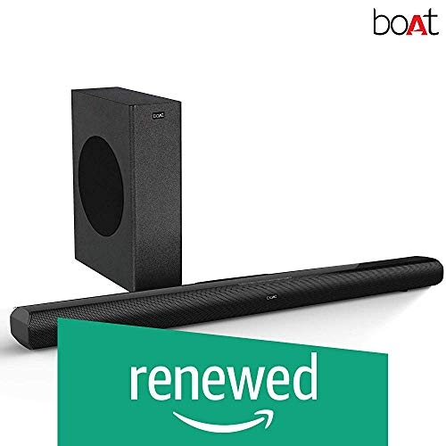 (Renewed) boAt Aavante 3000 Soundbar Speaker with Wireless Subwoofer, AUX, USB, Optical, Coaxial and HDMI ARC Mode Black