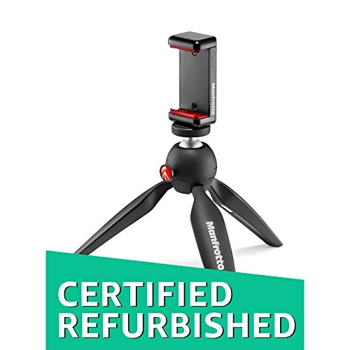 (Renewed) Manfrotto MKPIXICLAMP-BK Mini Tripod Black with Universal Smartphone Clamp – Best Tripod Online