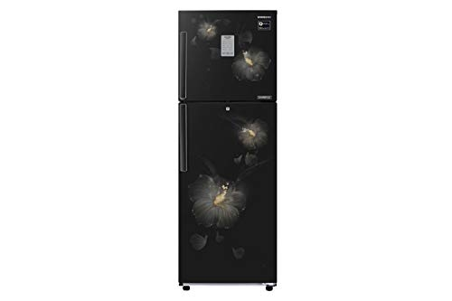 Samsung 253 L 3 Star Frost Free Double Door Refrigerator(RT28M3983B3/HL, Rose Mallow Black, Convertible, Inverter Compressor)