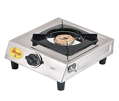Shree Surya Stainless Steel Material Steel Grey Colour Single Mini Burner (S B Sup.) for Kitchen