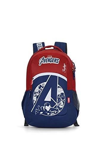 Skybags Marvel Extra 04 35 Ltrs Black Casual Backpack (Marvel Extra 04)
