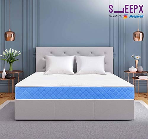 SleepX Presented by Sleepwell Exceller Memory Foam Luxury Pocket Spring Mattress – (78x60x8 Inches) with Free Pillows