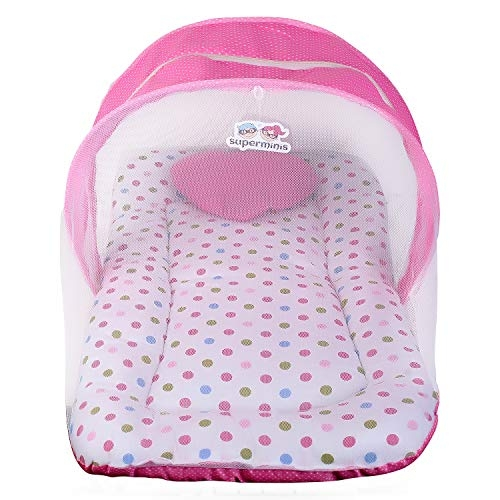 Baby Grow Cot Bed Insect Mosquito Net with Top Zipper Closer (White, 136 x 68 x 68 cm)
