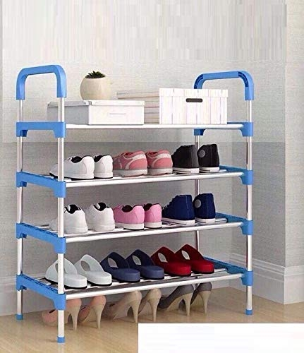 Shoe Racks For Closets | Three Secondz 4 Layers Steel Shoes Rack Stand Storage Organizer Holder Closet ~ Random Color