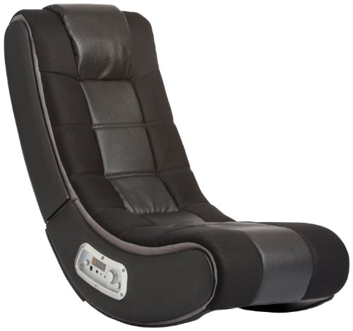 Ace Bayou X Rocker 5127401 Pedestal Video Gaming Chair, Wireless, Black
