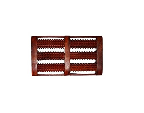 ACS Wooden Foot Roller Acupressure Magnetic Stress Mat Combo Kit