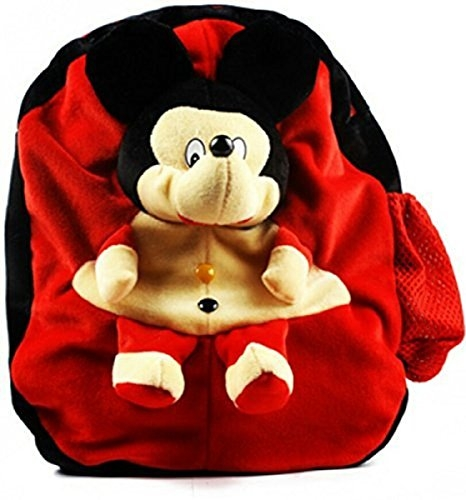 vpra mart Red Mickey Mouse Fabric School Bag for Kids